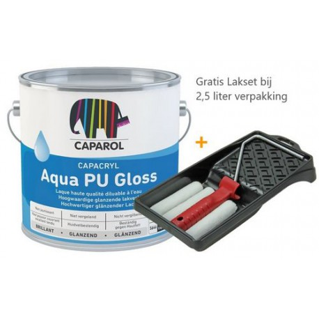 Caparol Capacryl Aqua PU Gloss met Lakset